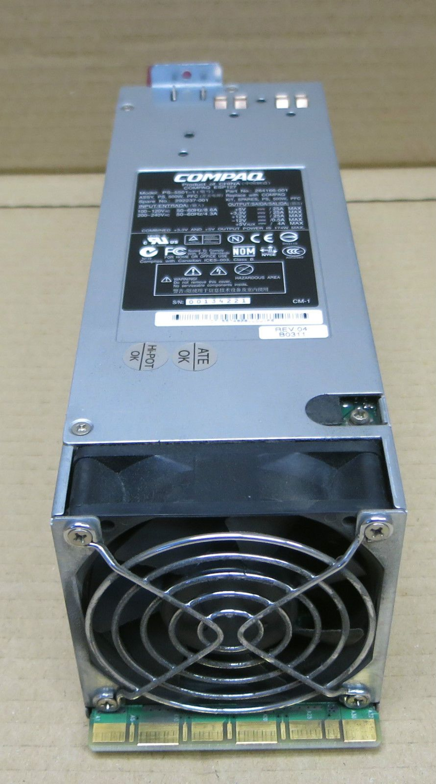 PS-5501-1 500W Power Supply PSU For ML350 G3 292237-001 264166-001